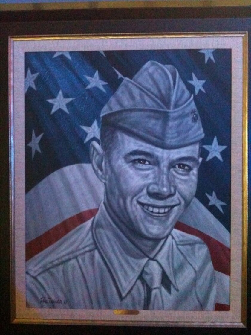 A painting of Lance Cpl. Donald Hogan, a Marine killed in Afghanistan in 2009, was presented to his family by artist Phil Taylor and The American Fallen Soldiers Project