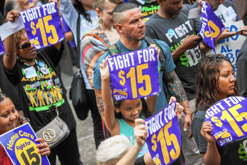 Low-wage earners packed the Los Angeles County Board of Supervisors meeting, which ended with a vote to raise the minimum wage to $15 an hour by 2021.
