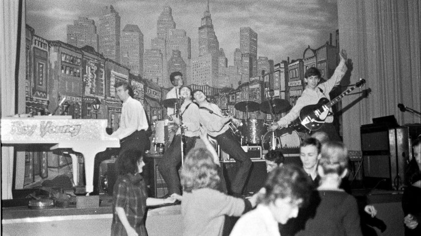 Photo of The Beatles and Roy Young in Hamburg, 1962