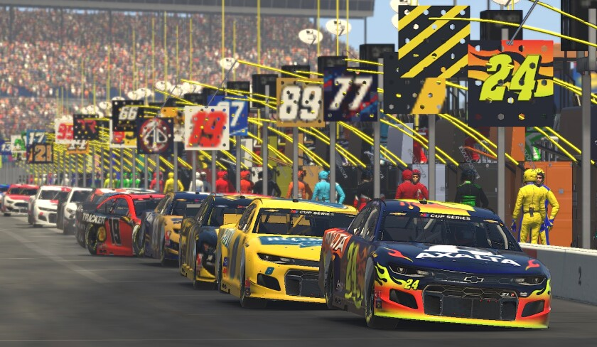 NASCAR iRacing at Texas Motor Speedway on March 29.