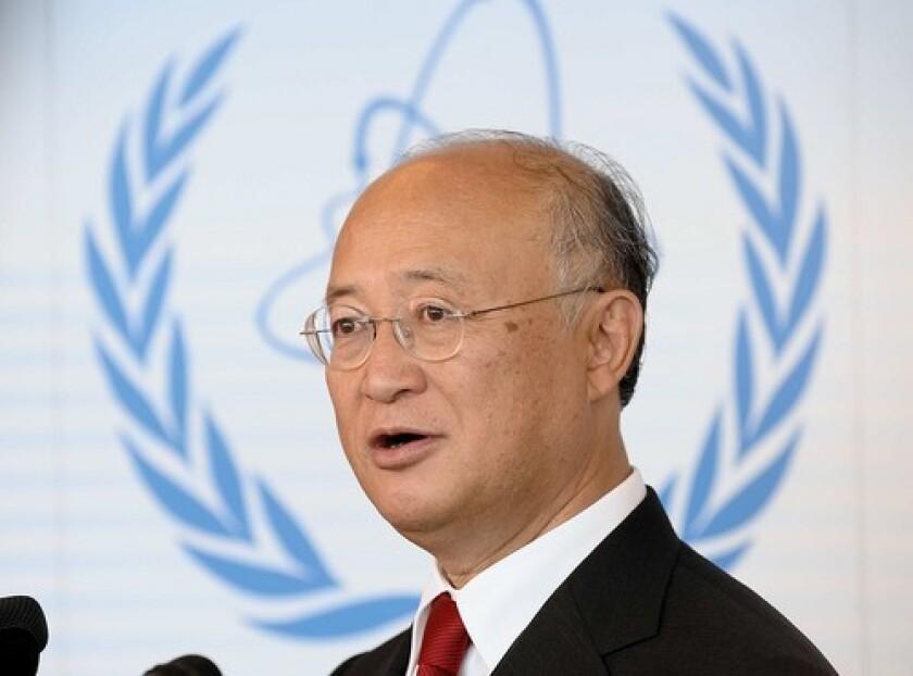 Yukiya Amano had been chief of the International Atomic Energy Agency since 2009.
