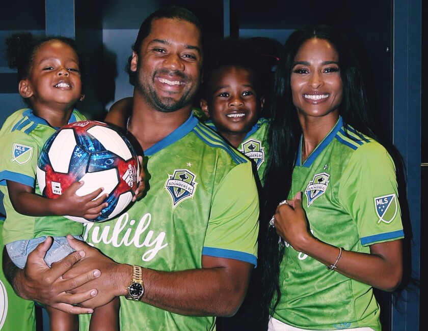 2f7b626c805 Russell Wilson and Ciara join Seattle Sounders ownership group - Los ...