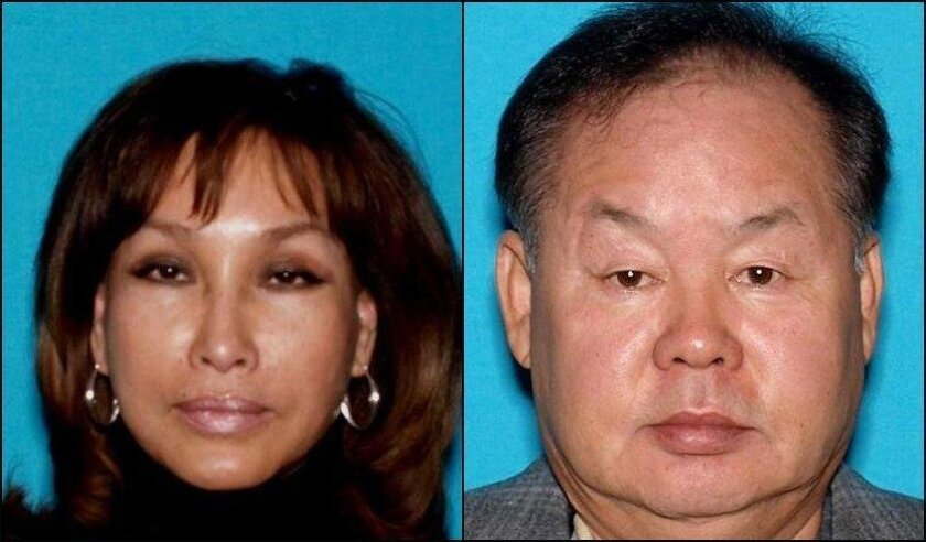 """Woo """"Stephanie"""" Kwon (L), indicted along with her husband Hyok """"Steven"""" Kwon (R) for a $7M insurance fraud and tax evasion scheme in San Diego. The two owned Good Neighbor Services, a janitorial company that served major hotels in Southern Califfornia."""