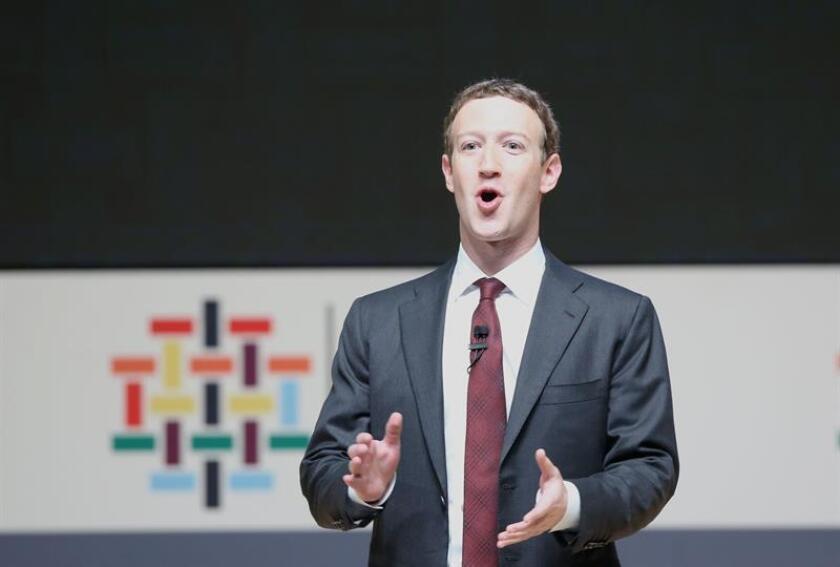 El fundador de Facebook, Mark Zuckerberg, durante un evento. EFE/Archivo