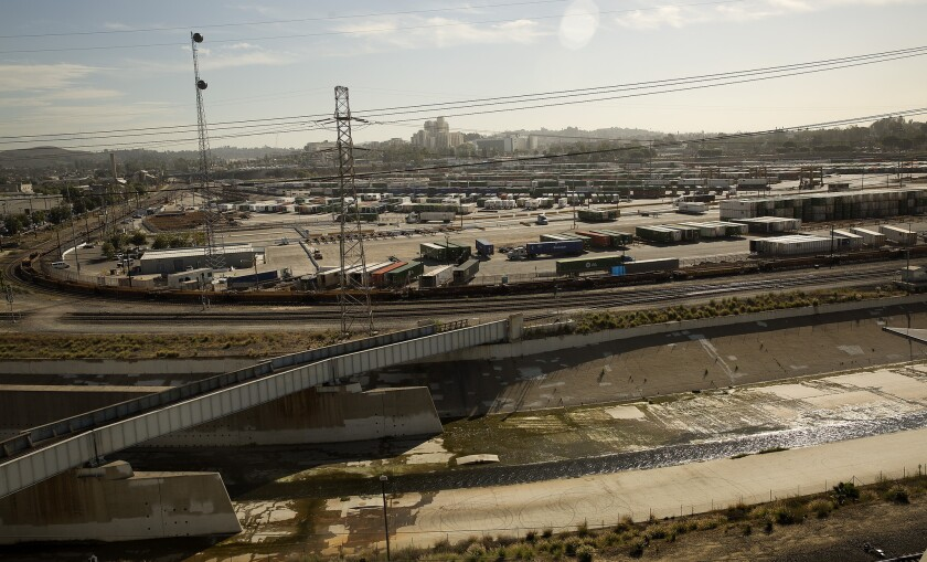 The sprawling Piggyback Yard is no longer a possible site for an Olympic Village in Los Angeles.