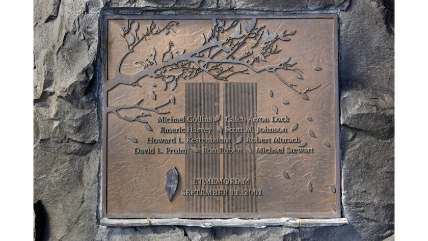 A plaque in memory of those Montclair lost on Sept. 11, 2001.
