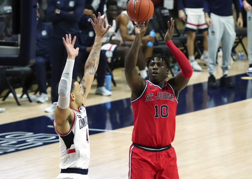 St. John's Marcellus Earlington averaged 6.8 points per game in 2020-21.