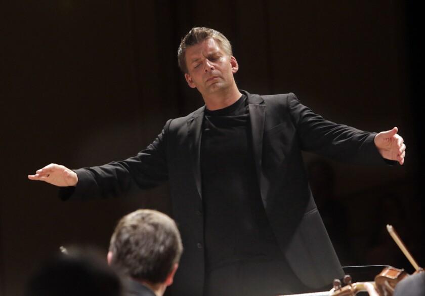 SANTA BARBARA CA. JUL. 01, 2013. Matthias Pintscher making his West Coast debut conducting the Acade