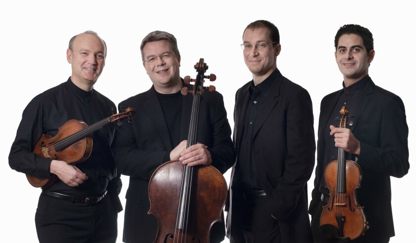 Violist Paul Neubauer, cellist Paul Watkins, pianist Gilles Vonsattel and violinist Arnaud Sussmann — members of the Chamber Music Society of Lincoln Center — wowed the crowd Sunday night at the Athenaeum in La Jolla.