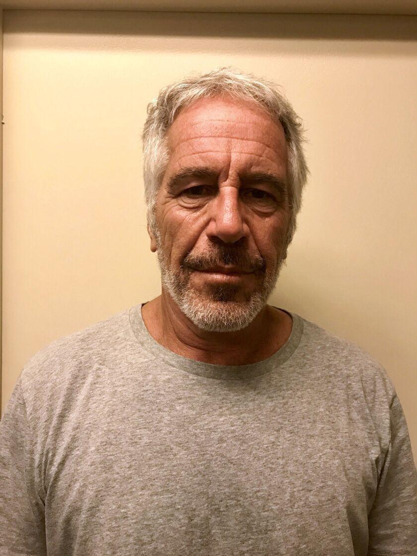 Jeffrey Epstein found semi conscious in prison cell, New York, USA - 25 Jul 2019