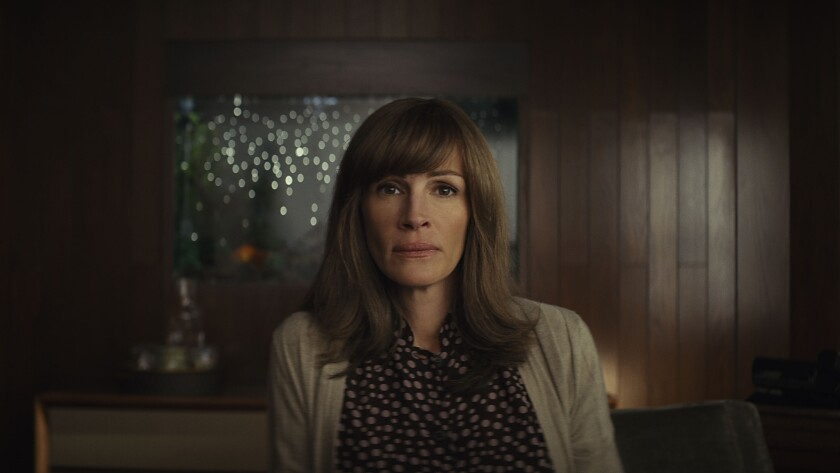 Julia Roberts in a scene from Homecoming. Credit: Amazon Prime Video