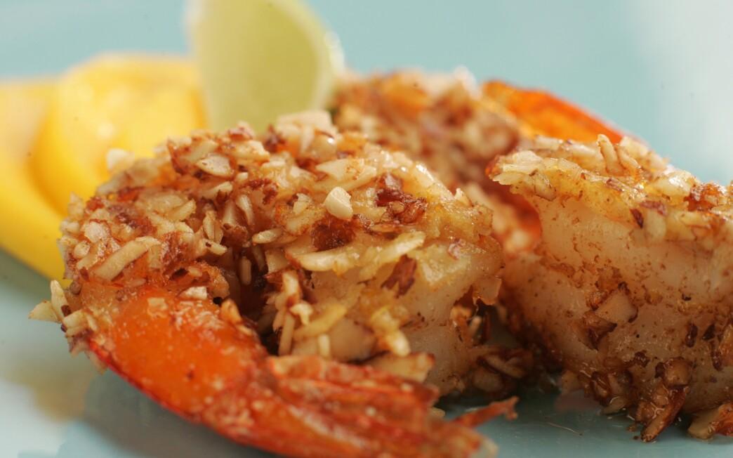 Mesquite almond shrimp