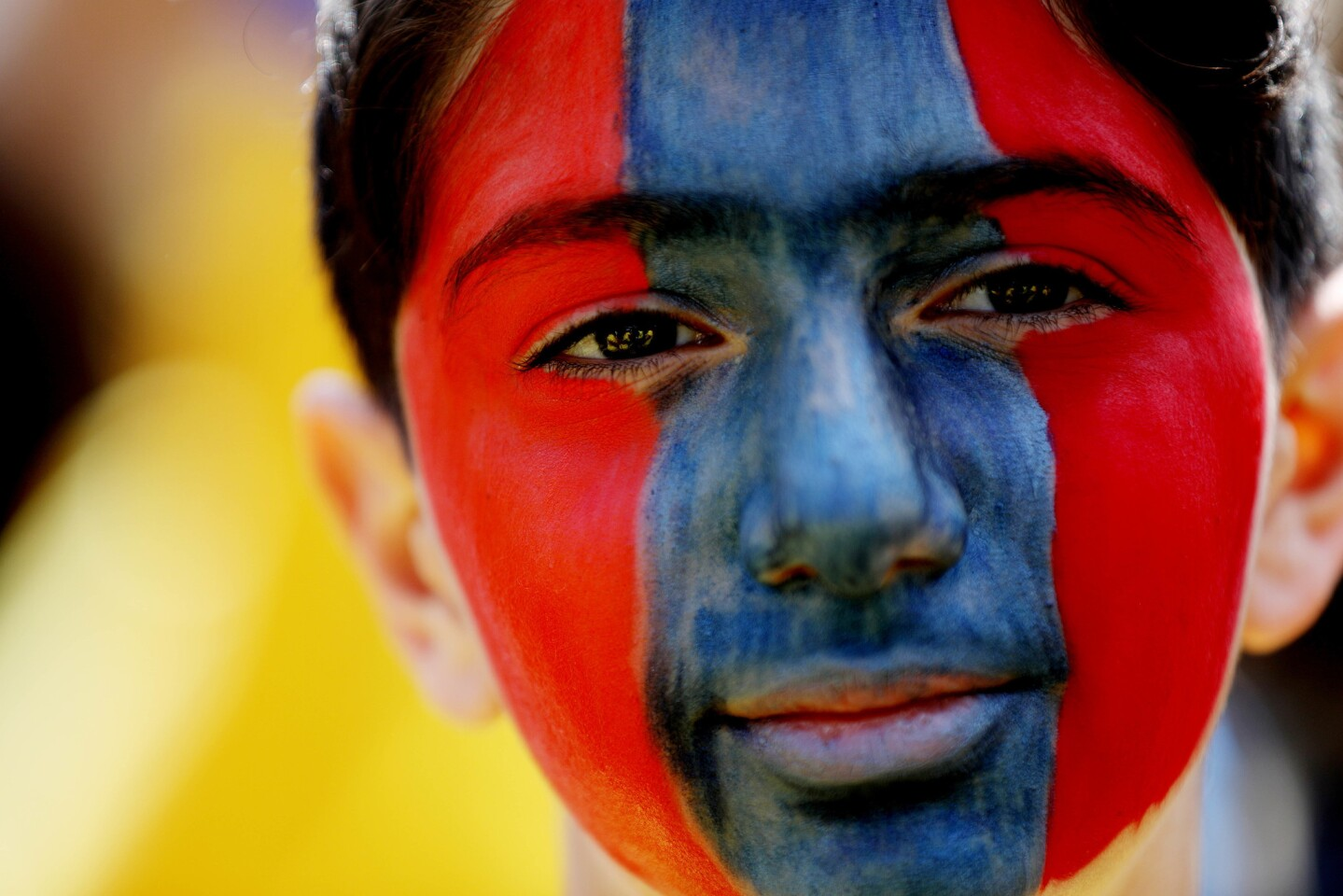 David Serobyan, 13, of Tujunga, participates in the Armenian Genocide Committee's March for Justice demonstration on April 24.
