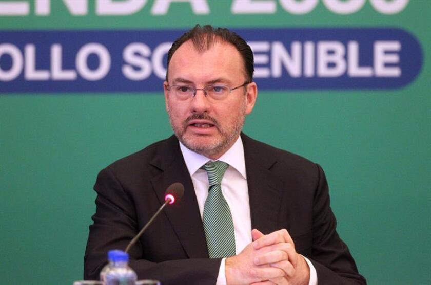 México lamentó hoy la decisión de Estados Unidos de renunciar a su participación en el Consejo de Derechos Humanos de las Naciones Unidas y señaló que su salida no lo exime de cumplir con sus obligaciones internacionales en la materia. El secretario de Relaciones Exteriores de México, Luis Videgaray. EFE/STR