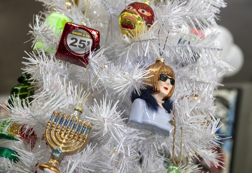 Merry Christmas. Here's a tiny Anna Wintour for your tree