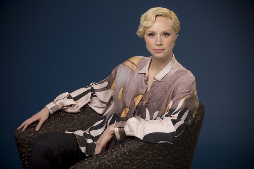 LOS ANGELES - CA - SEPTEMBER 16, 2015 - Actress Gwendoline Christie photographed in the Los Angeles Times studio, September 16, 2015. She is starring in HBO's Game of Thrones, the final Hunger Games movie and the next Star Wars films. (Ricardo DeAratanha/Los Angeles Times)