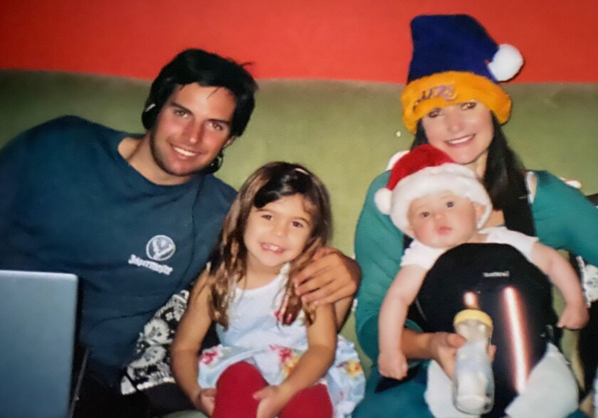 Hunter Smith is shown with his mother, Concetta Antico, and two other family members.