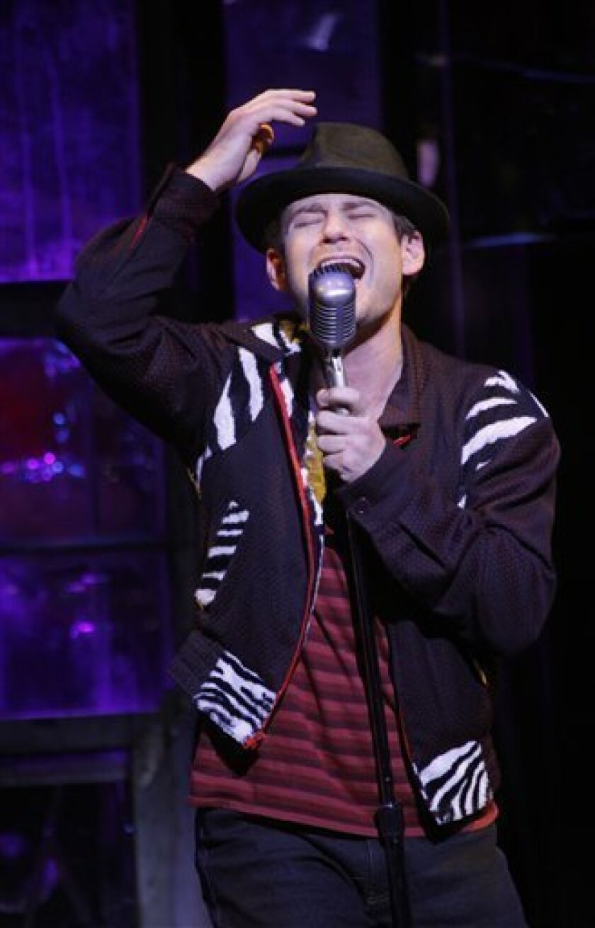 "In this theater publicity image released by The Hartman Group, Chad Kimball is shown in a scene from the musical ""Memphis,"" playing at Broadway's Shubert Theatre in New York. (AP Photo/The Hartman Group, Joan Marcus)"