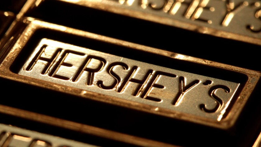 Hershey gets the majority of its sales from North America. Mondelez gets about a quarter of its revenue from North America and has a far bigger international presence.