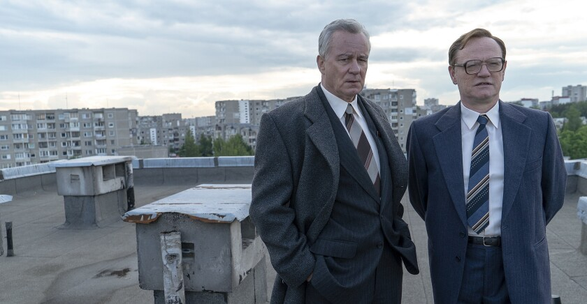 "Stellan Skarsg?rd and Jared Harris in ""Chernobyl"" on HBO."
