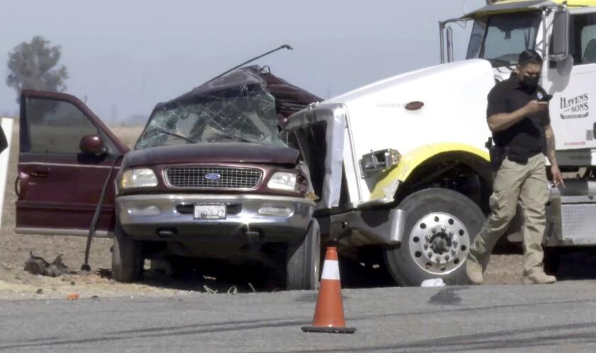 Scene where the crash occurred.