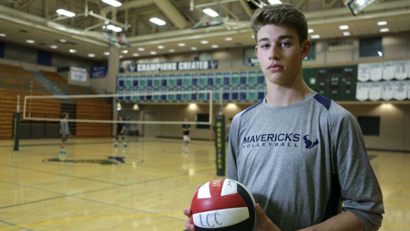 La Costa Canyon high school volleyball player Camden Gianni, 05/18/18. photo by Bill Wechter