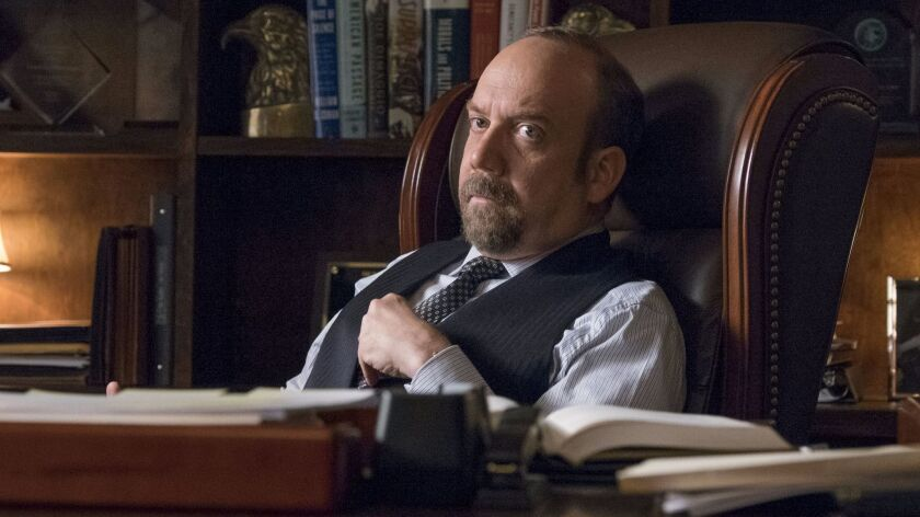 "Paul Giamatti as Chuck Rhoades on ""Billions."""