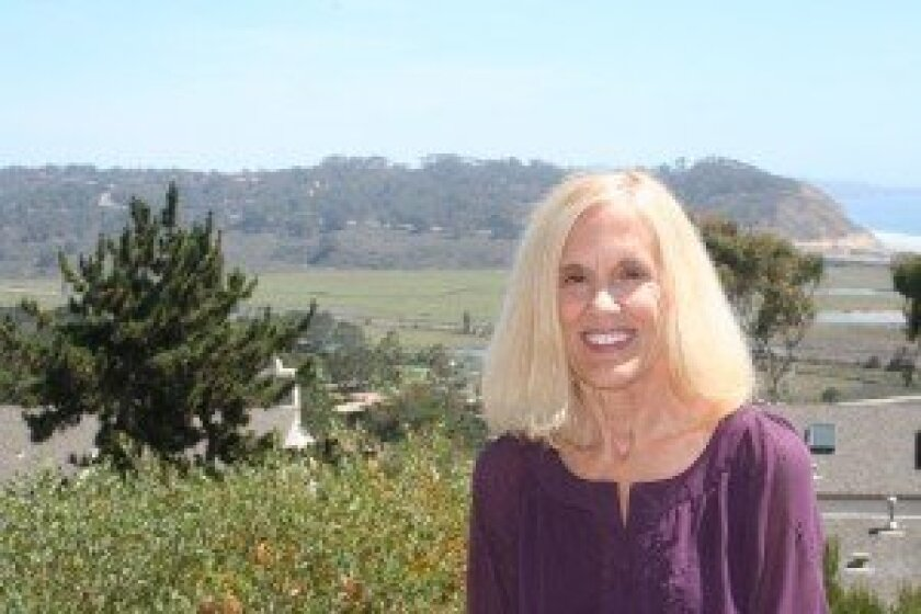 Alice Michael Evans at her home, which overlooks the Torrey Pines State Natural Reserve. Photo by Kristina Houck
