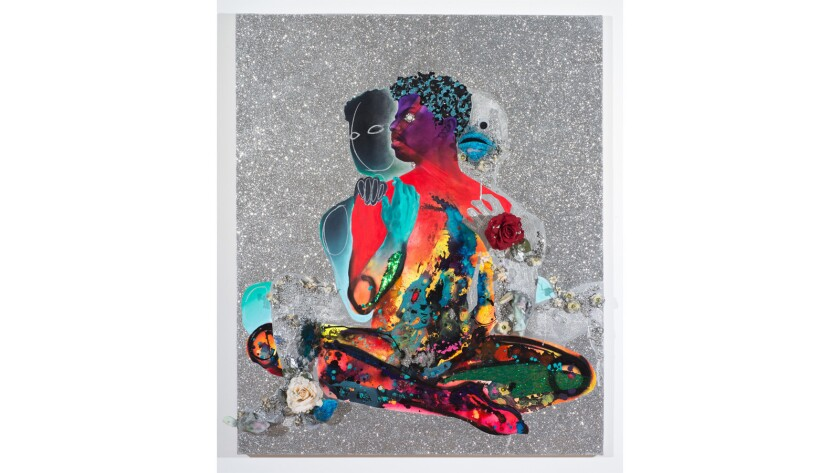 'Devan Shimoyama/Salómon Huerta' at Samuel Freeman gallery