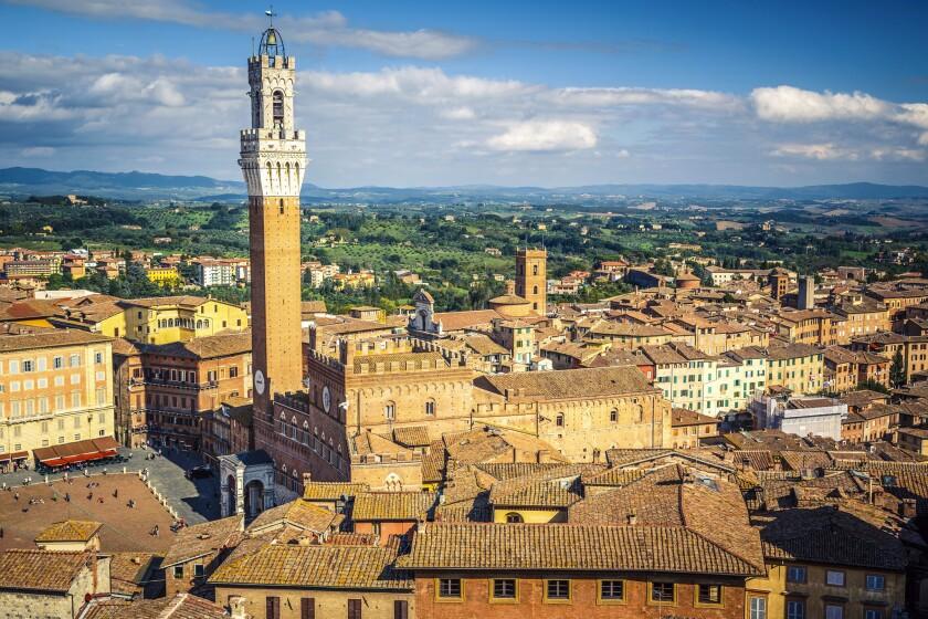 The town of Siena, where the 80-mile trek along the Via Francigena begins.