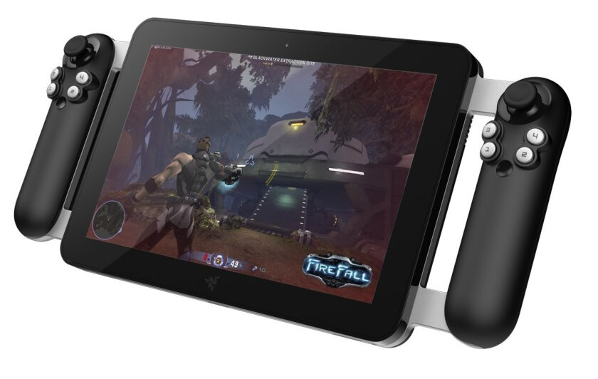 In 2012, Carlsbad video game hardware maker Razer showed off a tablet computer -- dubbed Fiona -- designed specifically for gaming. The tablet has handles attached on each side that serve as controllers for game playing.
