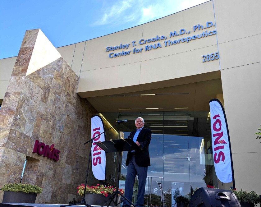 Ionis dedicates main campus to Stanley T. Crooke