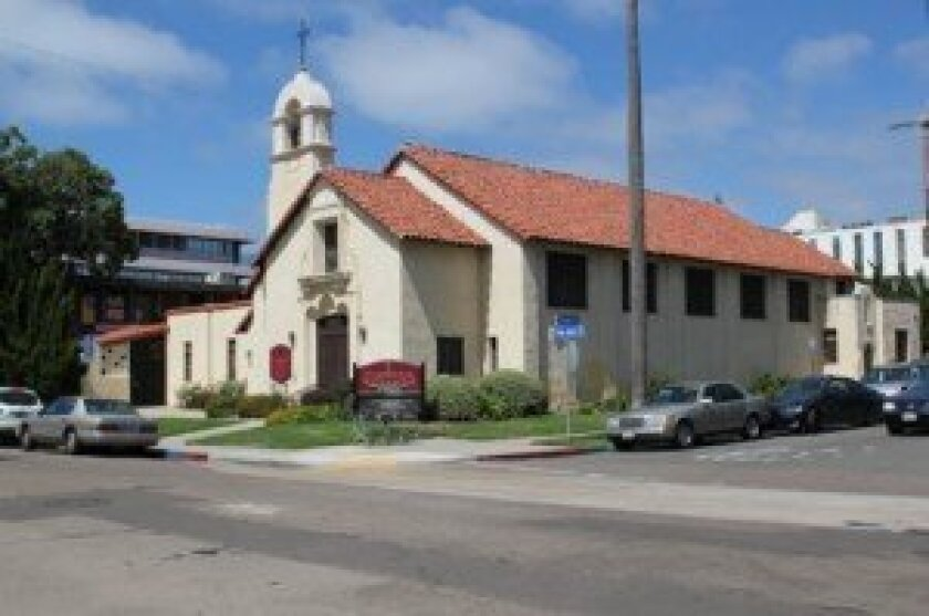 Congregational Church of La Jolla will celebrate the building's centennial next year. It was designed by Carleton Winslow, who also designed many of the buildings in Balboa Park for the 1915-1917 Panama-California Exposition.