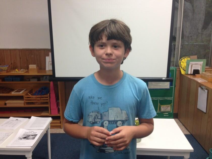 Matlock Grossman, 11, stood up for kid cyclists.