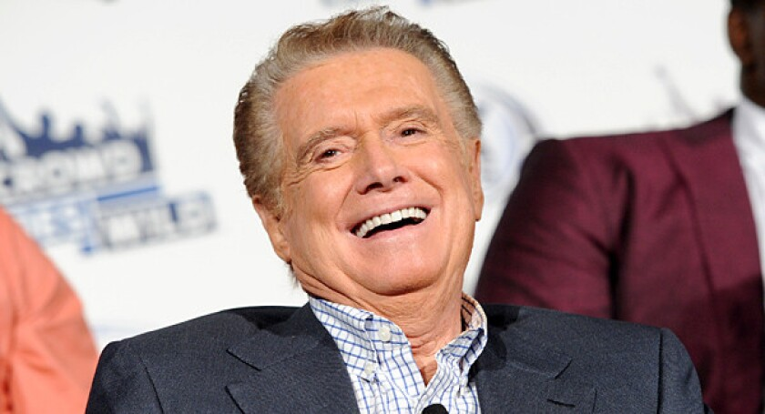 A picture of Regis Philbin, who died Friday at 88.