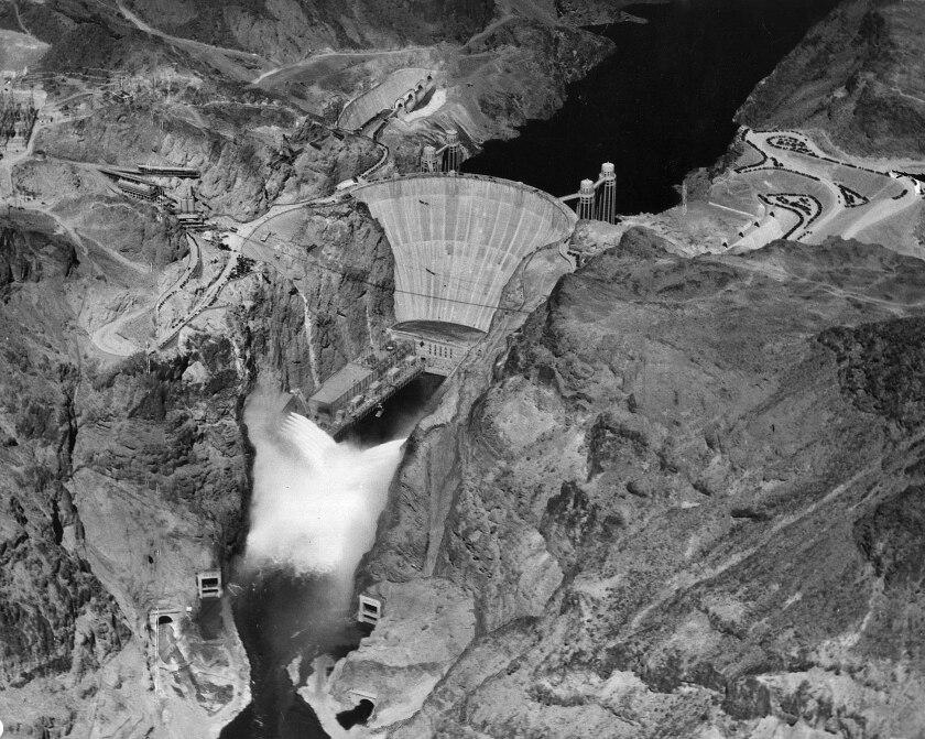 Hoover Dam aerial photo