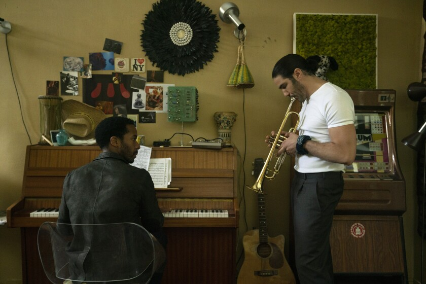 """André Holland, left, and Tahar Rahim play old friends partnered in a Parisian nightclub in the Netflix drama """"The Eddy."""""""