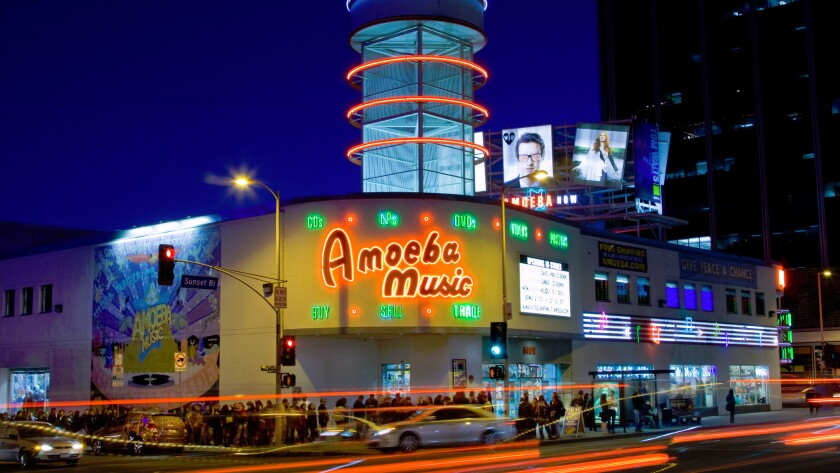 Amoeba Music on Sunset Boulevard.