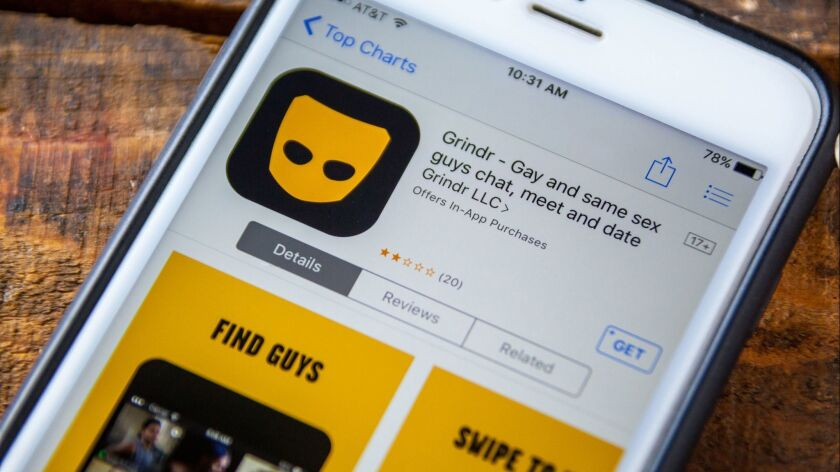 The Grindr app displayed on a smartphone app store.
