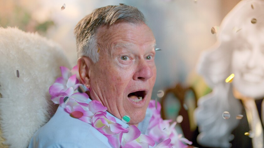 """This image released by Netflix shows Dick Johnson in a scene from """"Dick Johnson is Dead,"""" premiering Oct. 2, on Netflix. (Netflix via AP)"""