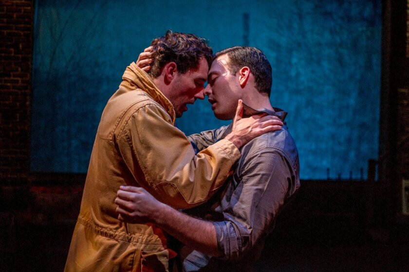 """Alex Hoeffler and Austin Vaccaro in Cygnet's production of """"Sons of the Prophet."""""""