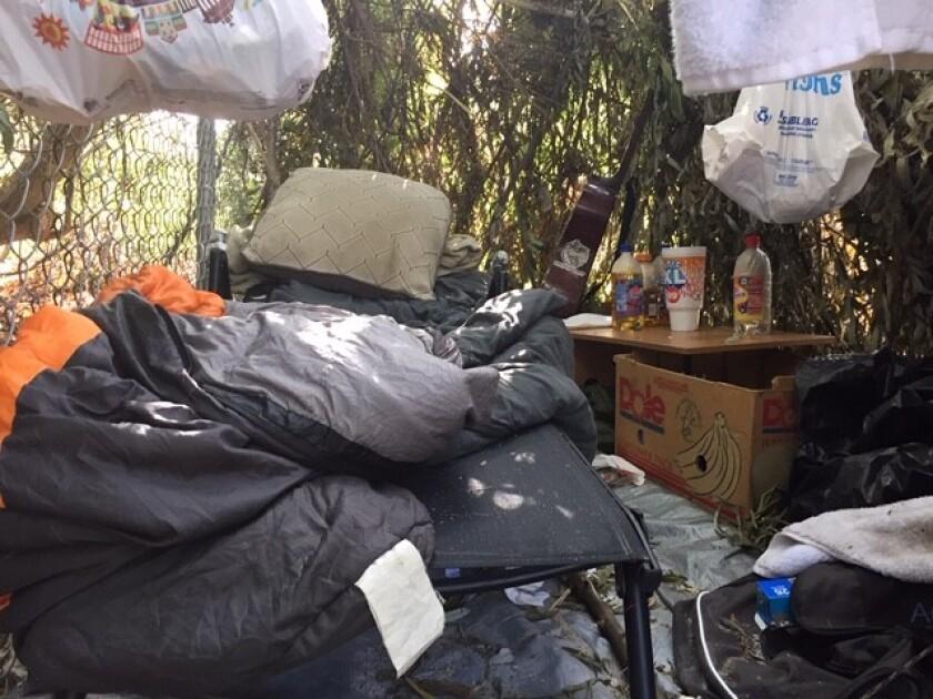 san luis rey homeless encampment