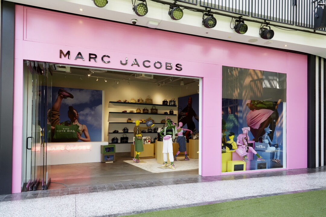Front side of Marc Jacobs Color Collection pop-up window