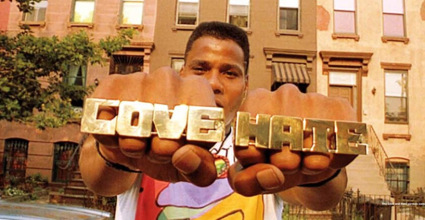 "Bill Nunn as Radio Raheem in Spike Lee's 1989 film ""Do the Right Thing."""