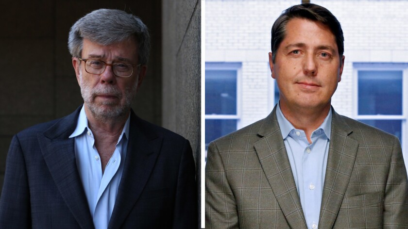 Consultants Bill Carrick (left) and Sean Clegg are facing off in the U.S. Senate race.