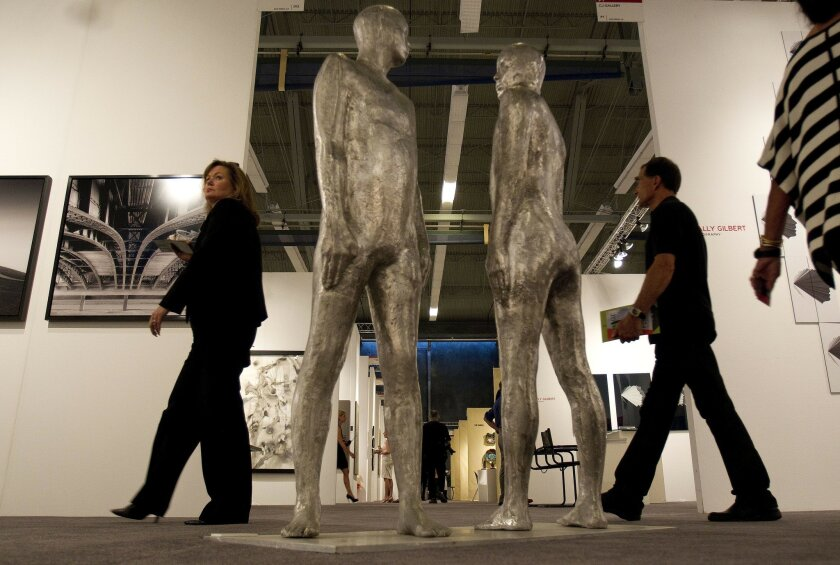 """The Art San Diego Contemporary Art Fair will be held at the Balboa Park Activity Center Thursday through Sunday afternoon. This year's theme is """"Collide."""""""
