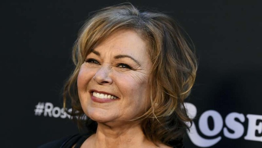 Roseanne Barr's sitcom was canceled Tuesday after she made racist remarks on Twitter about Valerie Jarrett, who was an aide to President Obama.