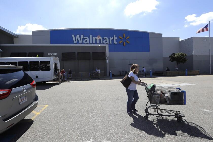 Walmart store, in Walpole, Mass.