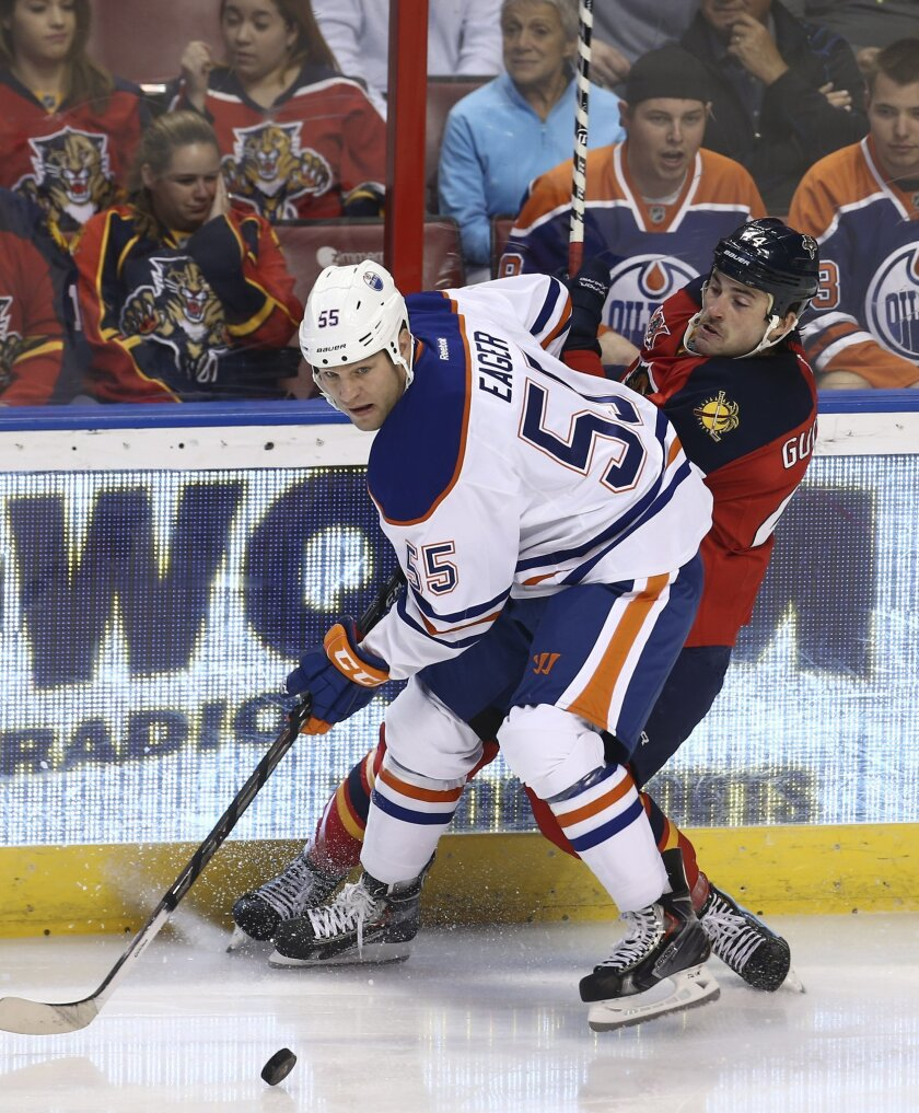 Acrobello S Ot Goal Lifts Oilers Past Panthers 4 3 The San Diego Union Tribune