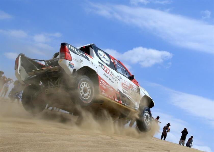 La novena etapa de este Dakar que se disputa íntegramente en Perú tiene inicio y final en Pisco, con un recorrido de 409 kilómetros, de los que 313 son cronometrados, con un 50 % de dunas y fesh-fesh (arena muy fina) y otro 50 % sobre terreno duro y pedregoso. EFE